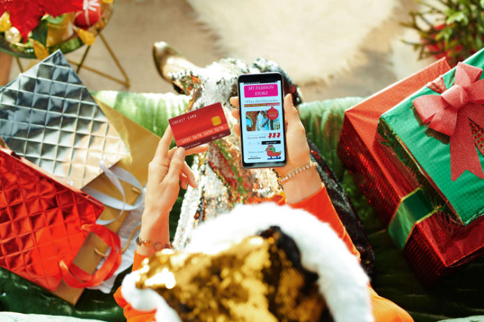 Put up Christmas decorations shoppiing