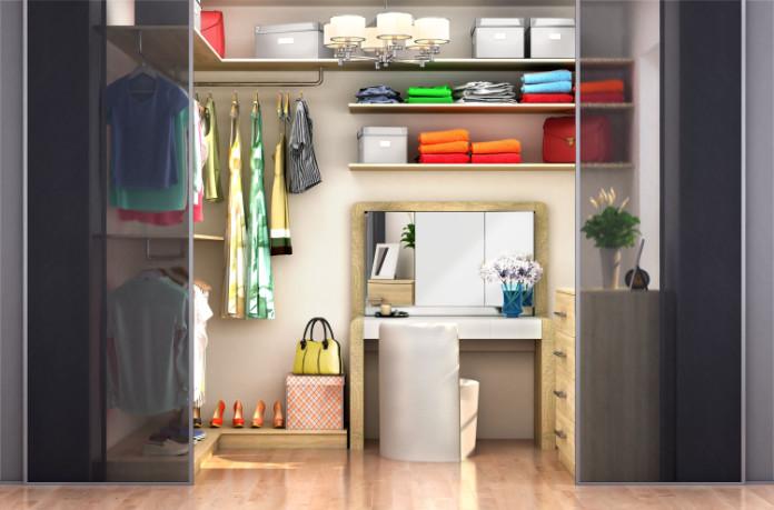 Guest bedroom ideas walk in wardrobe