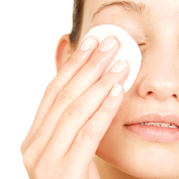 Eye make-up removal.