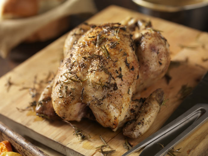 Cooking skills roasted chicken