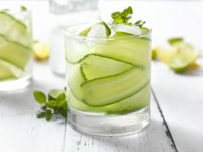 Cucumber and Basil gin cocktail