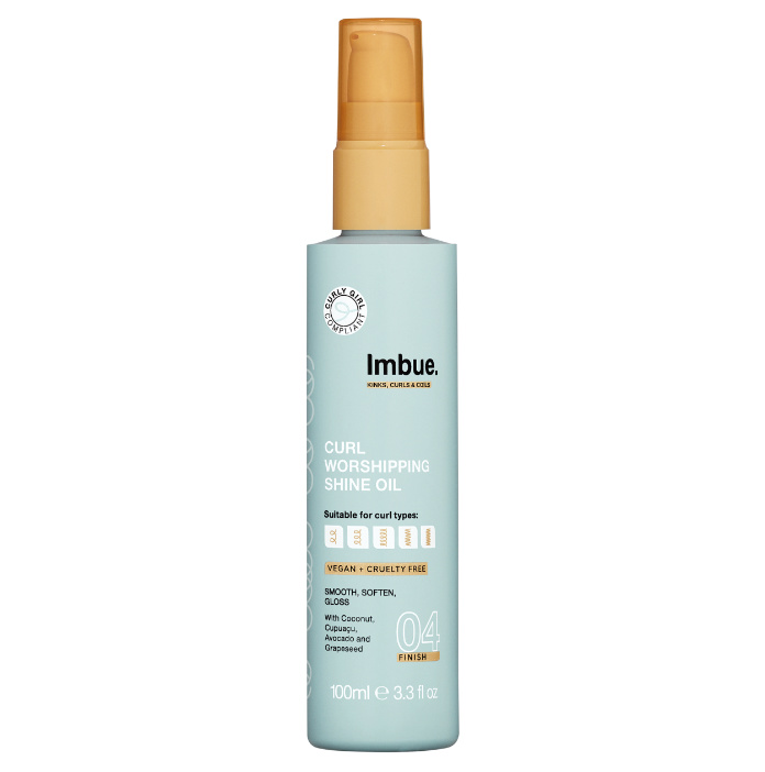 Curly hair Imbue oil