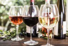 Wine tasting event. Wine glasses on a table.