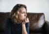 Fear of failure sad woman