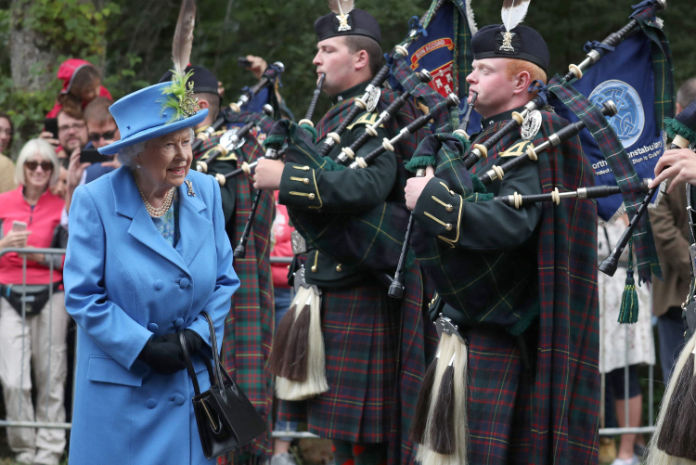 Queen summer residence at Balmoral 2018