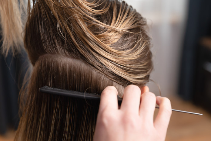 Section hair before cutting