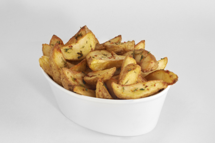 Home made french fries in a plate