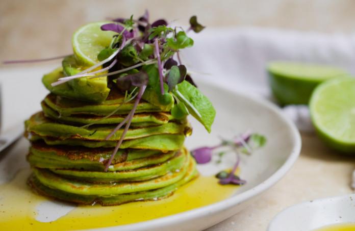 Nexba Kombucha Matcha pancakes