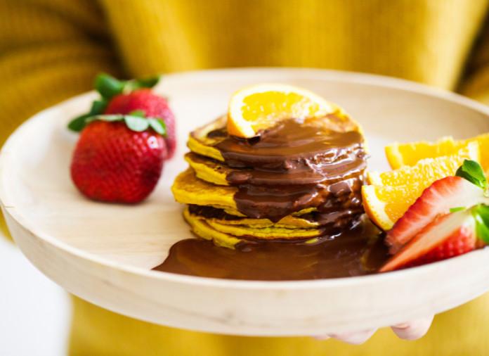 Nexba Kombucha orange turmeric pancakes