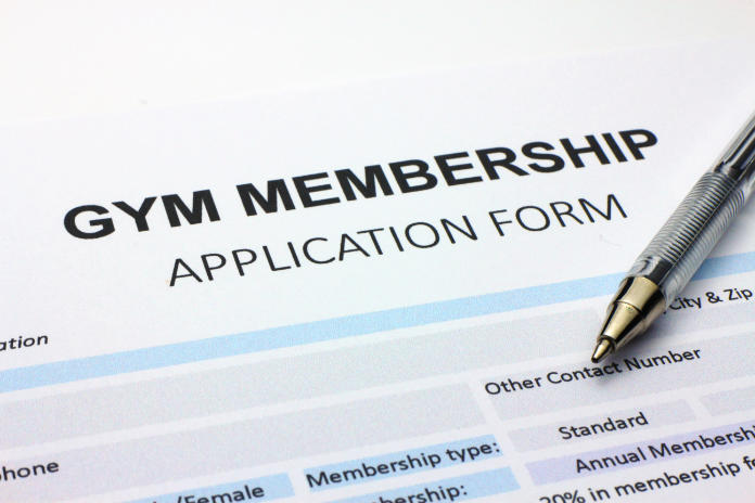 Gym membership application form