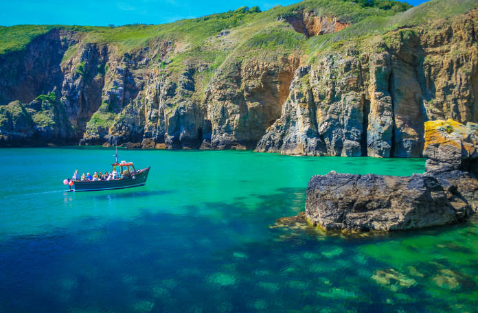 Boat trips on the South coast of Guernsey