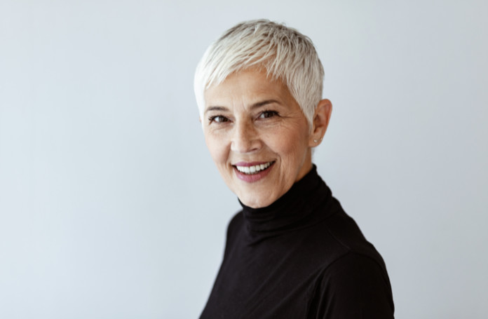 Pixie cut for grey hair