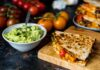 IOW Tomato and Bean Quesadillas