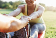 Partner exercises to keep fit
