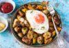 Shallot potato and sausage hash