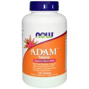 ADAM Superior Mens Multiple Vitamin - 120 Tabs Vitamins & Minerals NOW Foods