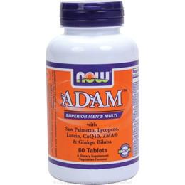 ADAM Superior Mens Multiple Vitamin - 60 Tabs Vitamins & Minerals NOW Foods