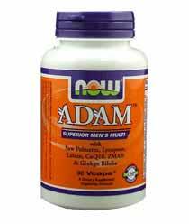 ADAM Superior Mens Multiple Vitamin - 90 VCaps Bodybuilding Warehouse NOW Foods