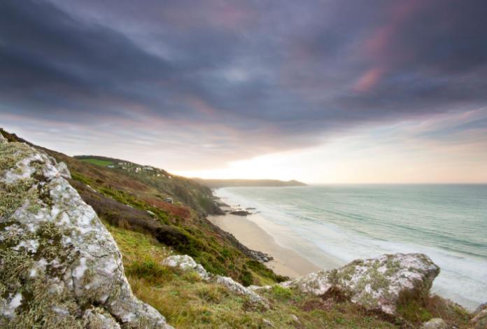 Whitsand Bay on the Rame Peninsula, Cornwall