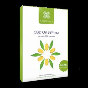 CBD Oil Capsules 192mg to 384mg - 60 capsules