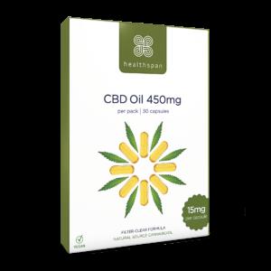 CBD Oil Capsules 450mg to 900mg - 30 capsules