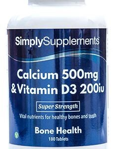 Calcium 500mg Vitamin D3 200iu (120 Tablets)