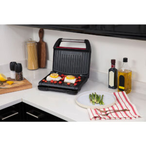 George Foreman Family 25040 5 Portion Steel Grill - Red