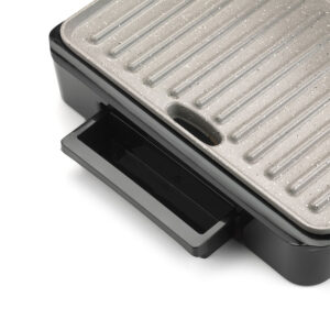 Giles & Posner Giles and Posner EK2009GMOB Marble Coated 1500W Health Grill and Panini Maker - Black