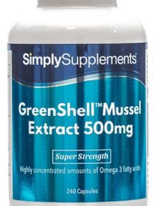 Greenshell Mussel Extract Powder 500mg (240 Capsules)