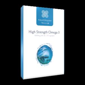 High Strength Omega 3 1,000mg - 120 Capsules