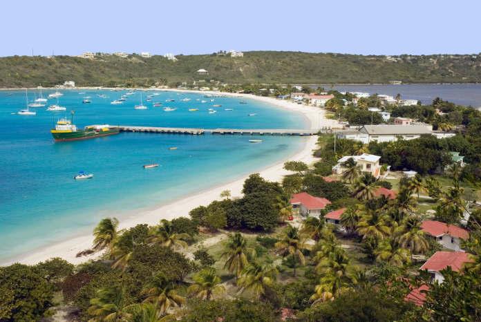 Caribbean, Leeward Islands, Anguilla - View of beach