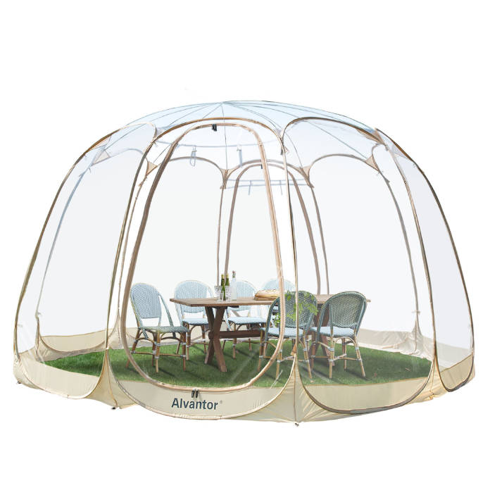 Outdoor living pop-up bubble tent