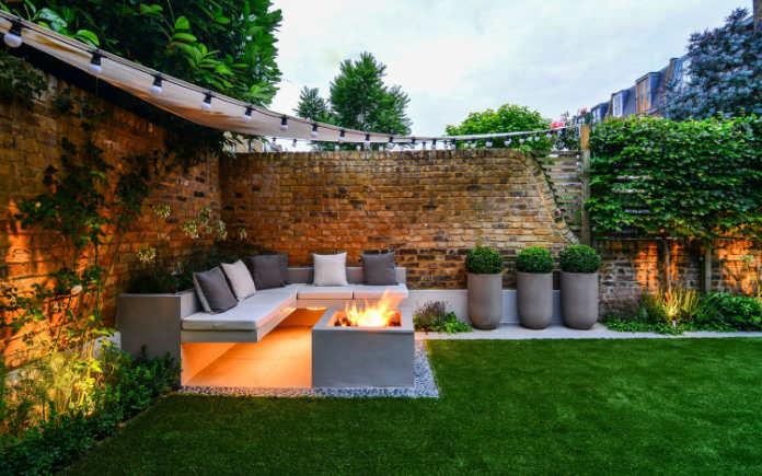 Outdoor living stylish garden entertaining area