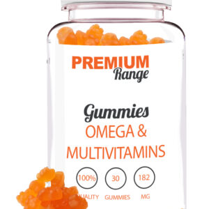Premium Omega and Multi-Vitamins - 30 Gummies (orange gummy bears) Bodybuilding Warehouse