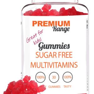 Premium Sugar Free Multi-Vitamin - 30 Gummies (red gummy bears) Best Before Feb-20 Bodybuilding Warehouse