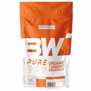 Pure Organic Turmeric (Curcumin) with Bioperine - 510mg-120 V-Caps Vitamins & Minerals Bodybuilding Warehouse