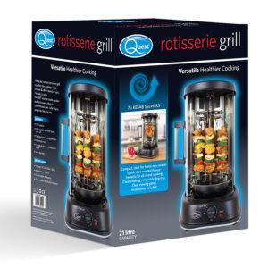 Quest 34020 1500W Kebab Rotisserie Grill - Black