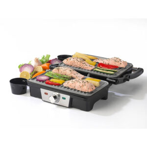 Salter EK2132 Marble Collection 1500W Healthy Panini Grill - Silver/Black