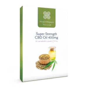 Super Strength CBD Oil 450mg - 2 x 30 capsules
