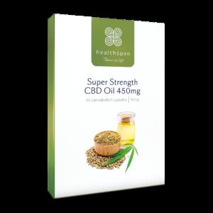 Super Strength CBD Oil 450mg - 30 capsules