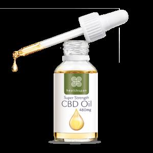 Super Strength CBD Oil Drops 480mg - 10ml bottle