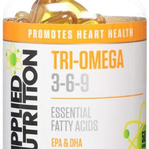 TRI-Omega 3-6-9 - 100 Soft gels Bodybuilding Warehouse Applied Nutrition