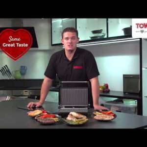 Tower T27009 1000W Ceramic Health Grill and Griddle - Black