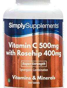 Vitamin C 500mg Rosehip 400mg (360 Tablets)