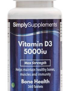 Vitamin D3 5000iu (360 Tablets)