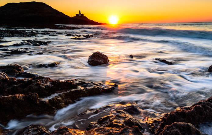 Sunrise at Mumbles lighthouse