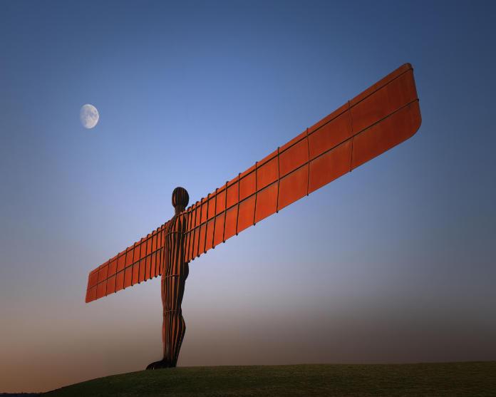 Angel of the North near Gateshead
