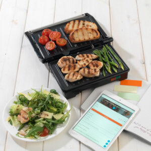Weight Watchers EK2759WW 750W Fold-Out Health Grill with Marble Non-Stick Coating - Black