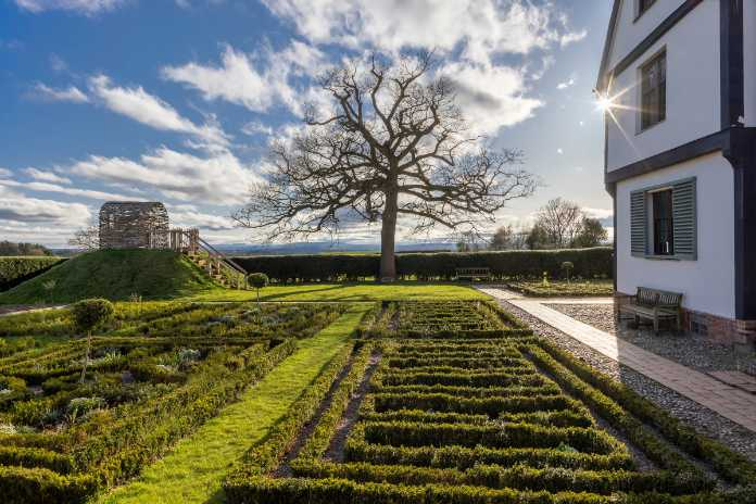 The garden at Boscobel House has been re-planted in original 17th century style