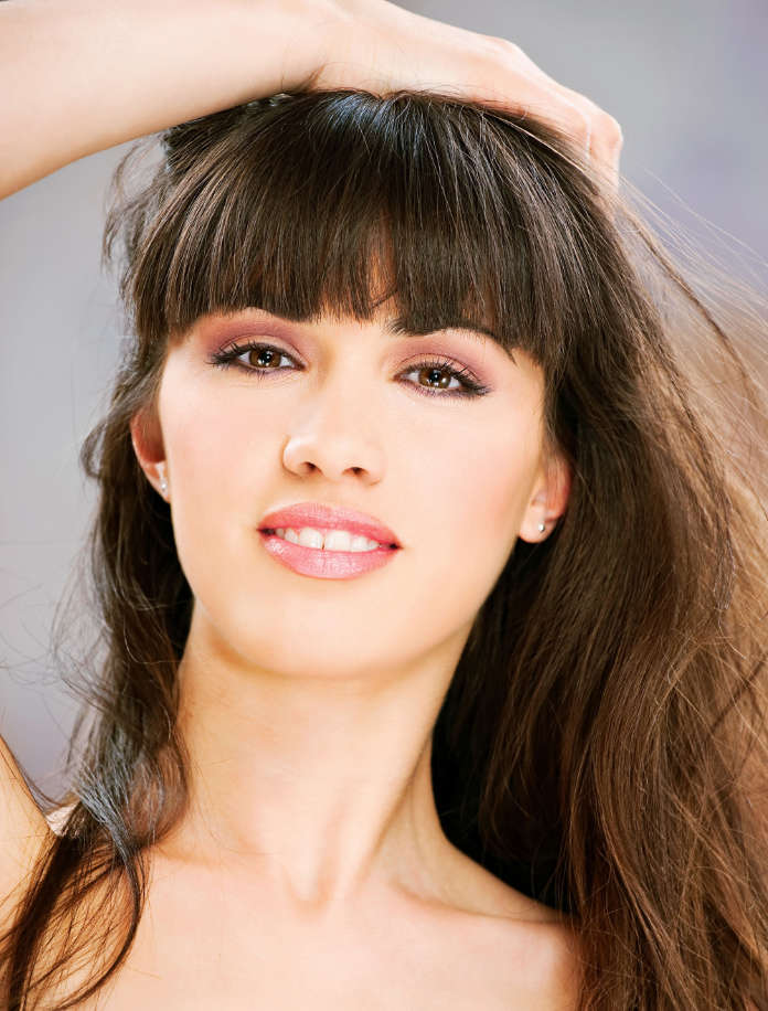 Long haired woman with fringe